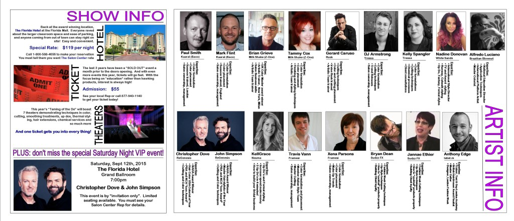 Taming of the 'Do Show 2015 Featured Artists