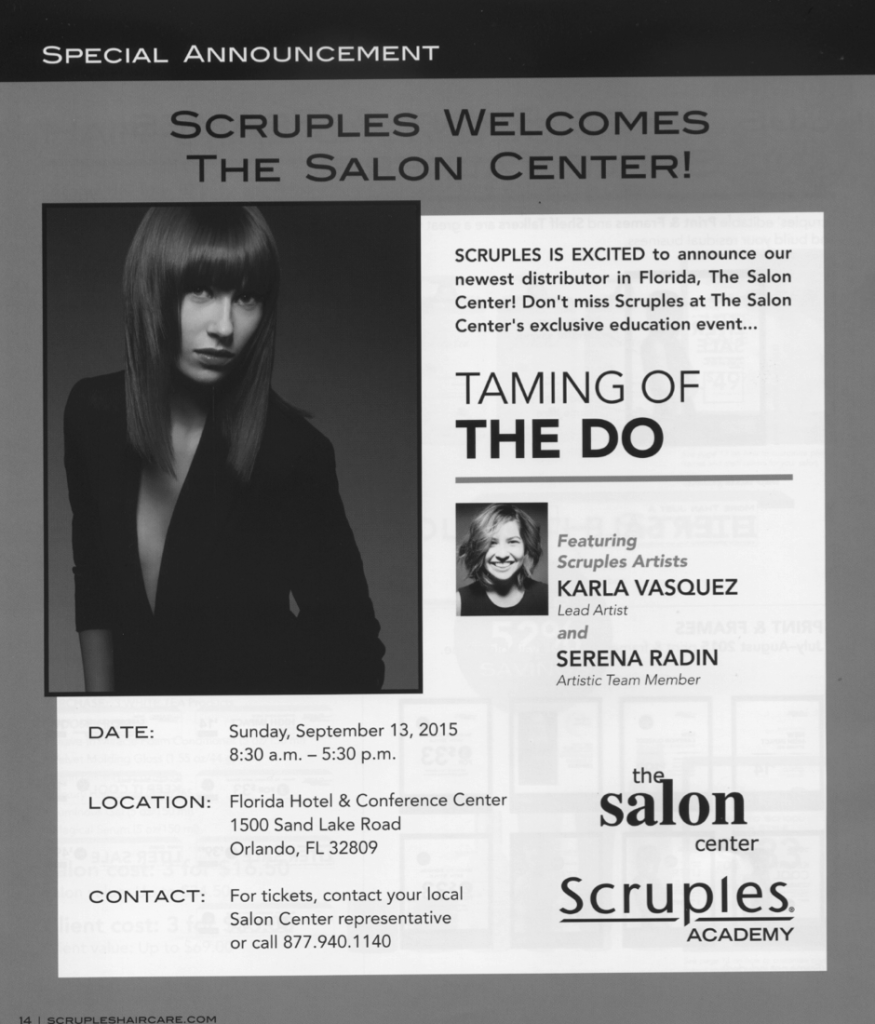 Scruples Taming of the Do 2015 Show Flyer